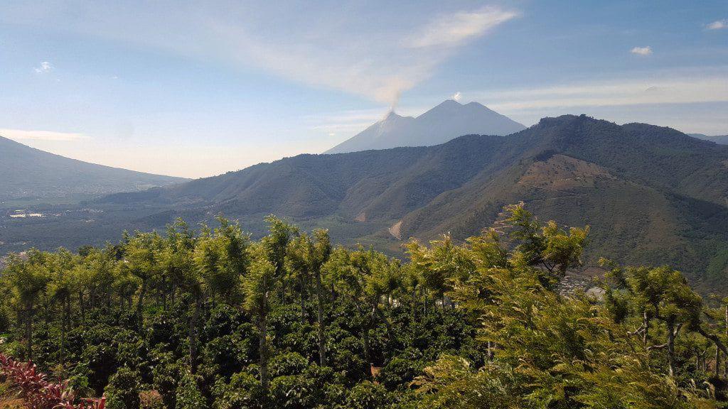 Volcan del Fuego (left) Volcan del Acatenango