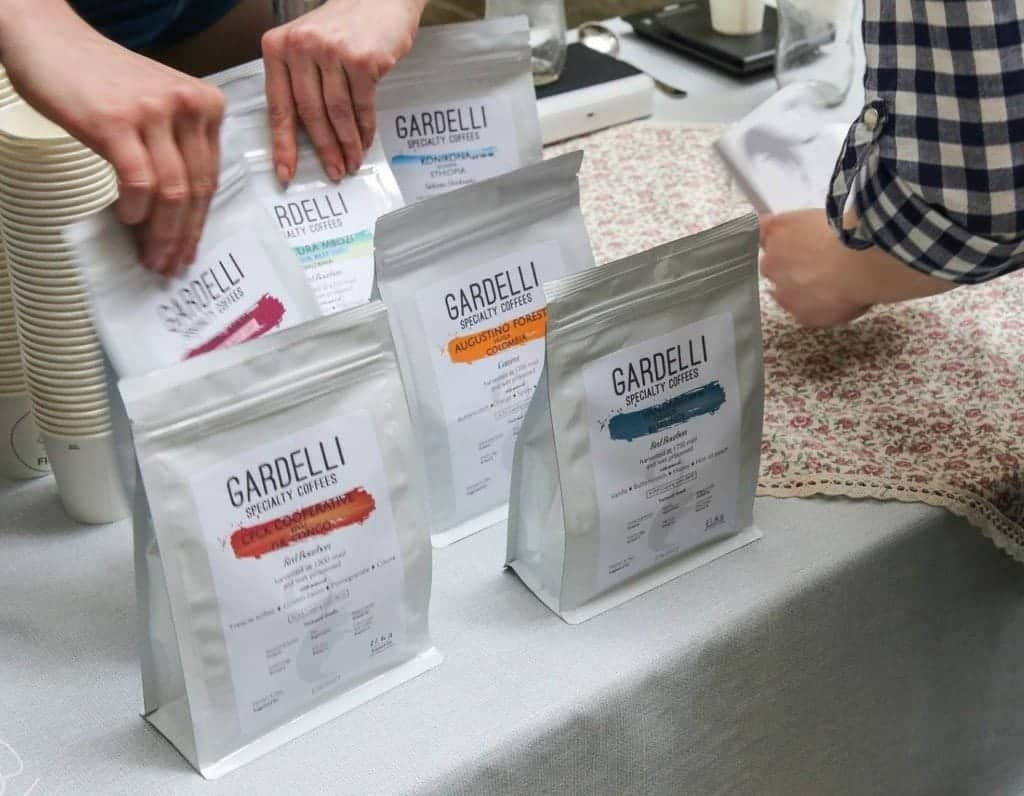 gardelli coffee, packaging, Italy
