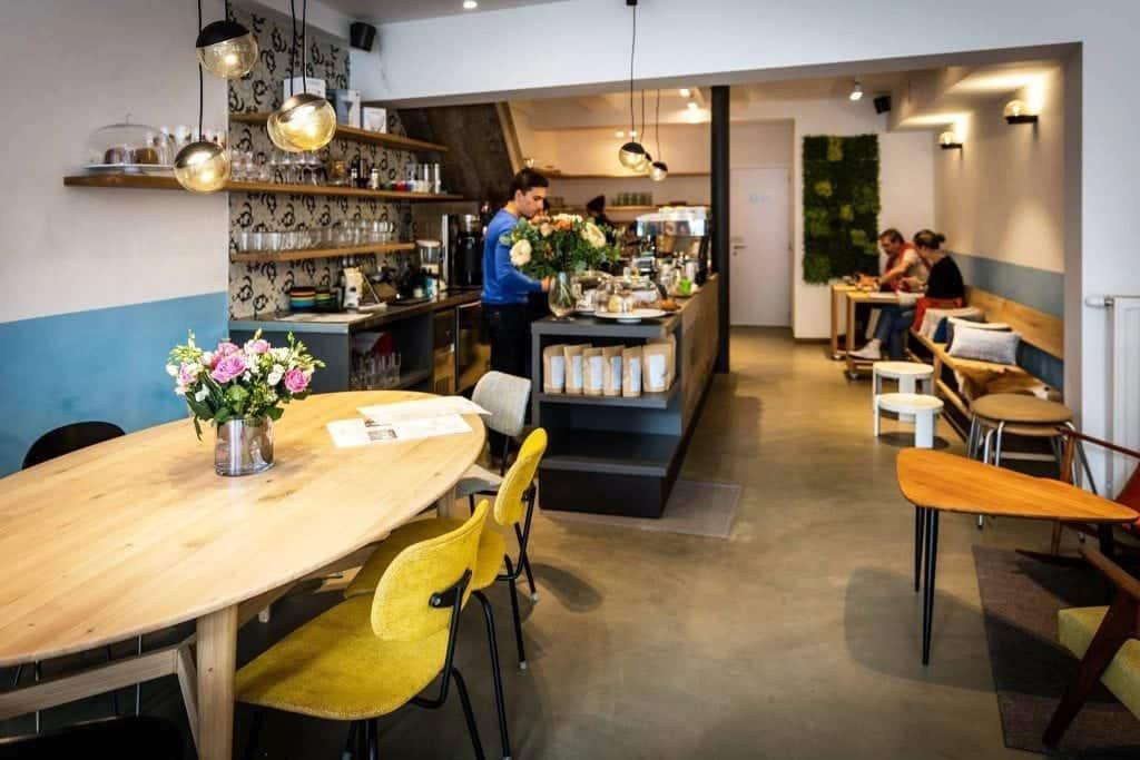 Cafe Velvet, Brussels, interior, tables