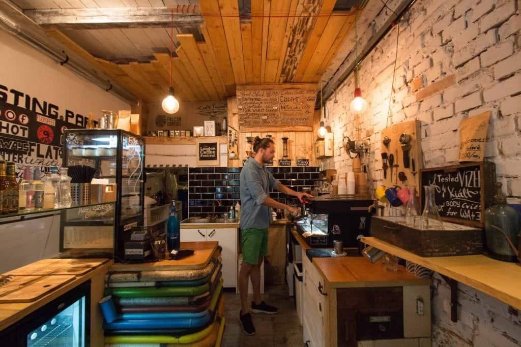 Doubleshot, Budapest, interior, bar