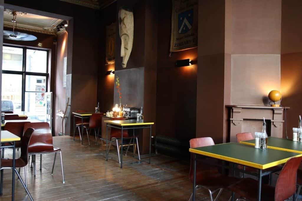 Belga&Co, Brussels, Interior, tables