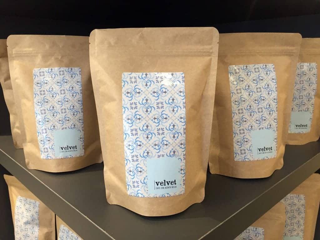 Cafe Velvet, Brussels,coffee bags