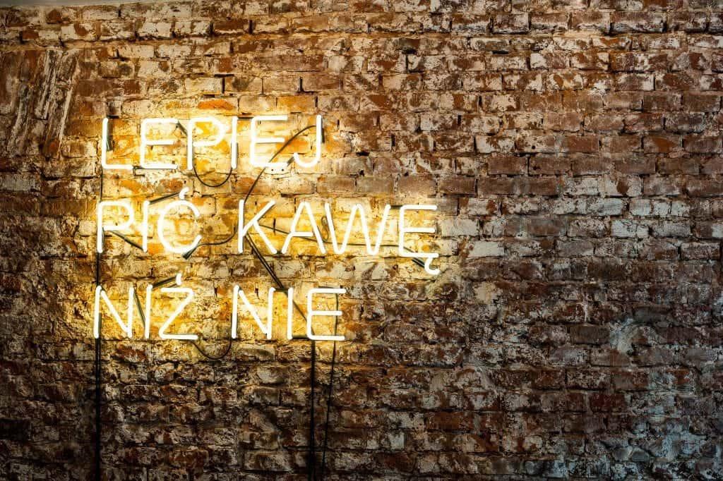 Wesola, Krakow, wall sign