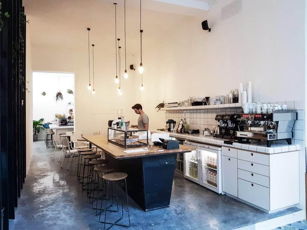MOK, Brussels, interior, bar, barista