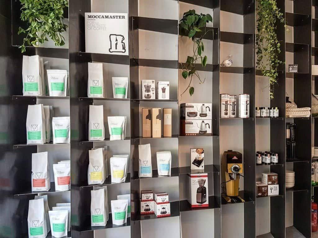MOK, Brussels, coffee retail shelf