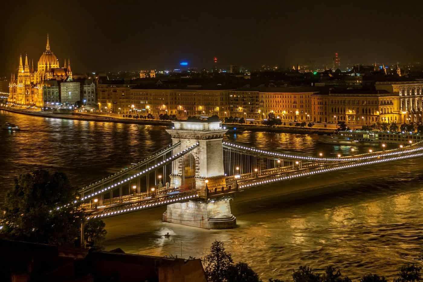 World of Coffee Budapest by NIght