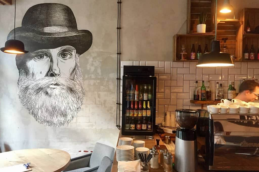 mural at Minister Cafe