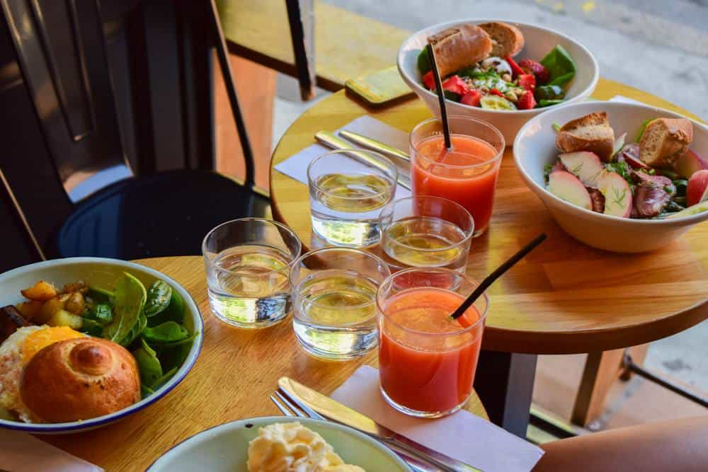 Daily menu at Café La Fiancée, Toulouse