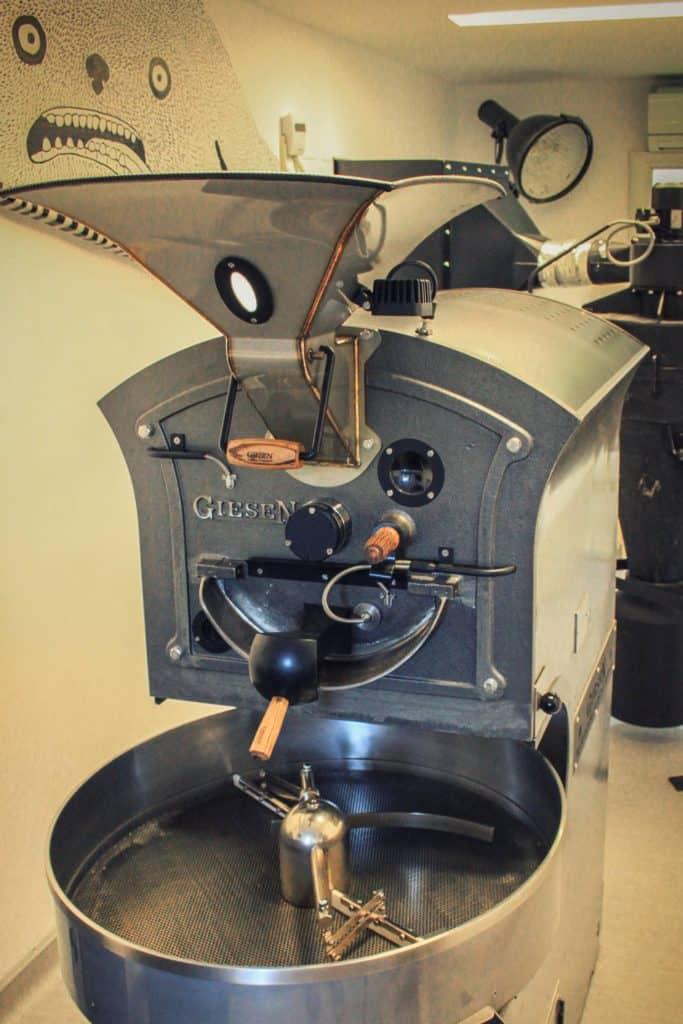 Giesen roaster at bob coffee lab