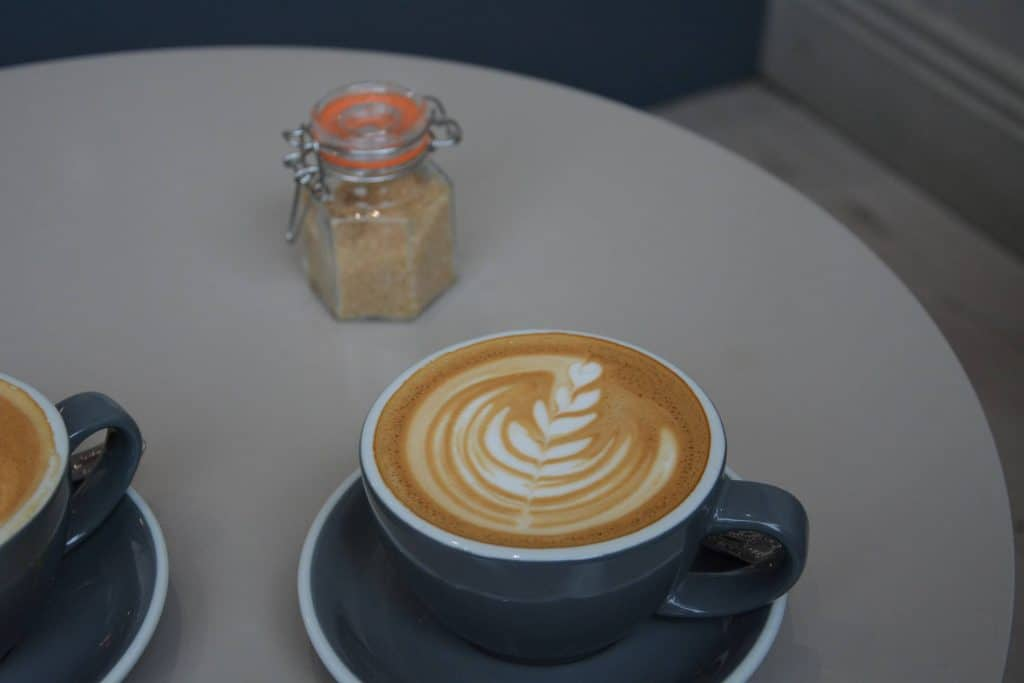 flat white at Ebb and Flow Cafe