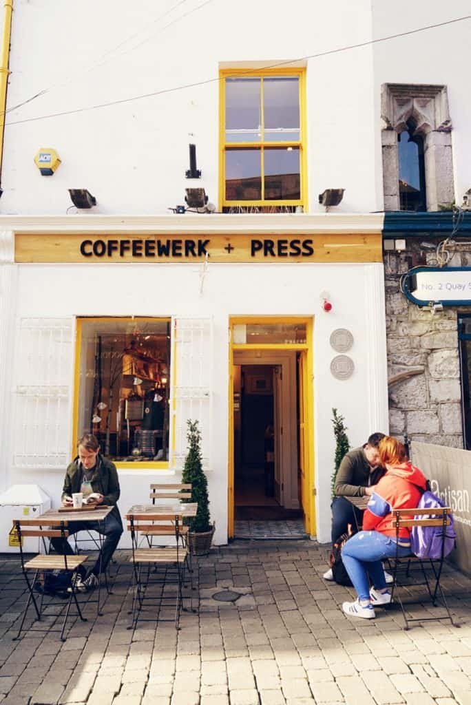 The outside seating at Coffeewerk + Press, Galway