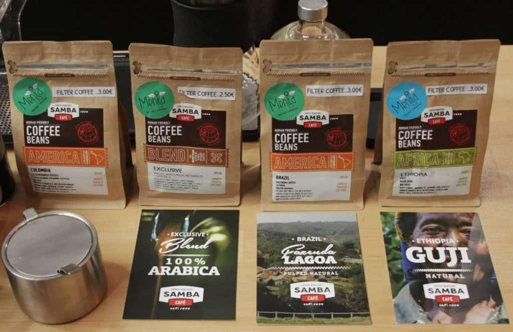 Bags of Menta coffee