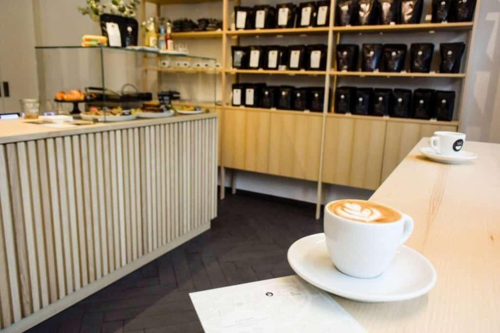 A flat white at Kaffeebar