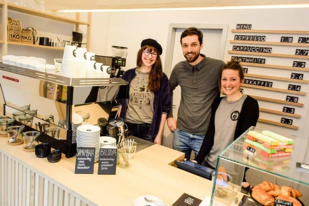 The baristas at Kaffeebar