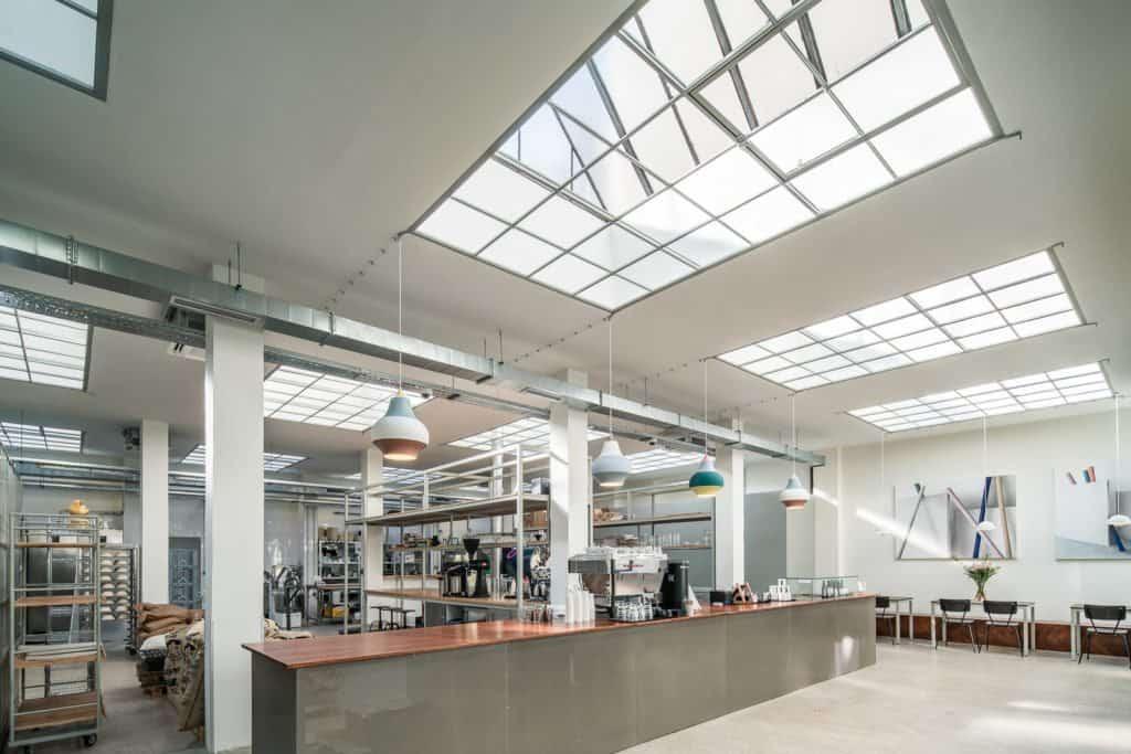 A view of the Espresso bar at Alf&Bet