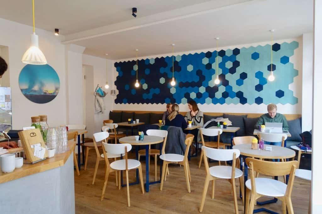 Café Blá, interior