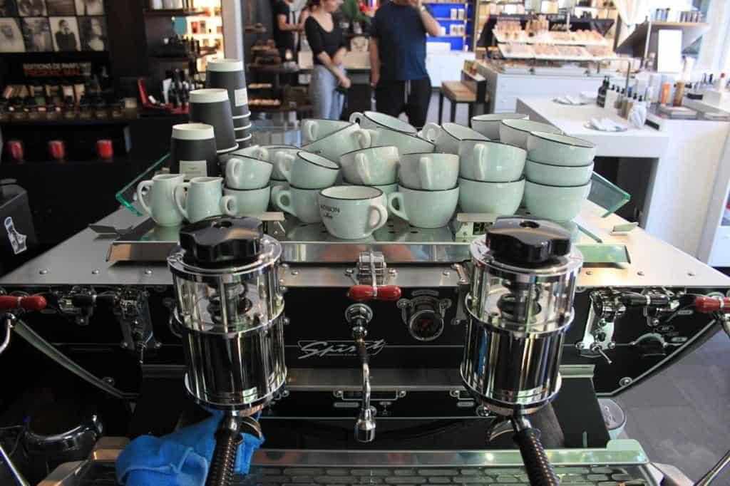 The coffee machine at Madison Perfumery