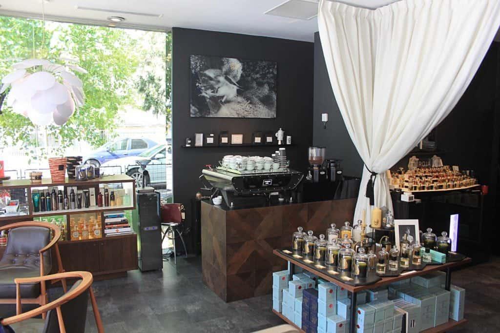 interior of Madison Perfumery Bucharest