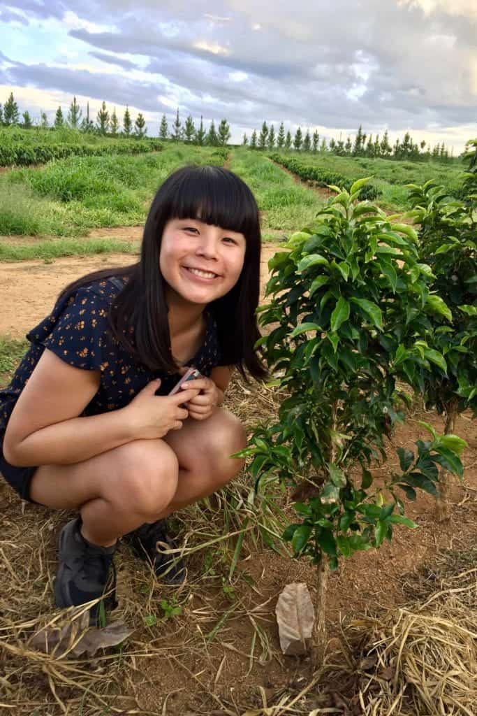 Emi Fukahori in Brazil, at Daterra Coffee