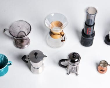 Coffee Brewing Methods (French Press, Pour Over, AeroPress, Espresso, Drip Coffee, Cezve, Clever Dripper, Coffee Capsules))